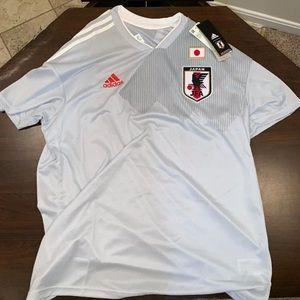 Adidas 2018 JAPAN Soccer Jersey Grey XL